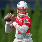 Patriots quarterback Cam Newton worked out at Boston College