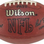 Football from Brady's 1st TD toss going to auction