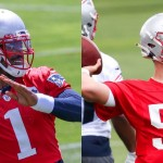 Will Cam Newton and Mac Jones split reps 50/50 early in Patriots camp?