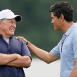 Bill Belichick embraces Tedy Bruschi's returns to Patriots training camp practices