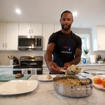 Justin Bethel of the Patriots can also get the job done in the kitchen