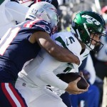 Jets' Zach Wilson out for remainder of game against Patriots with injury