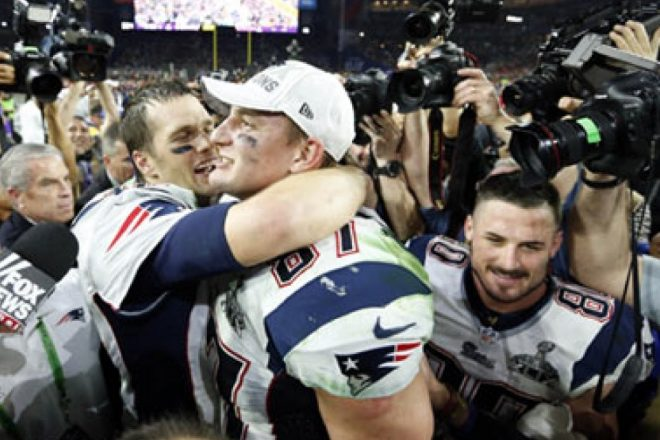 VIDEO: Rob Gronkowski and Tom Brady Appear on CONAN