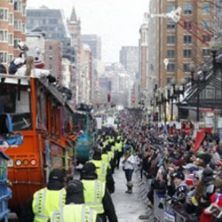 """Flashback Friday: Ty Law Remembers The Patriots First Super Bowl Parade and Rally """"Dance Off"""""""
