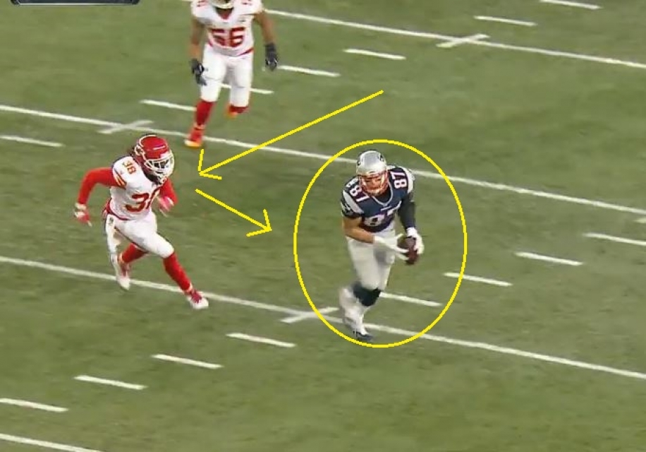 32 yd Gronk 3-13.2