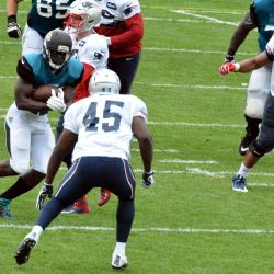 Patriots Joint Training Camp Practice With Jax, Observations