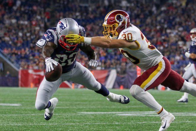 Patriots Ground Game Provides Comeback in 26-17 Win Over Washington