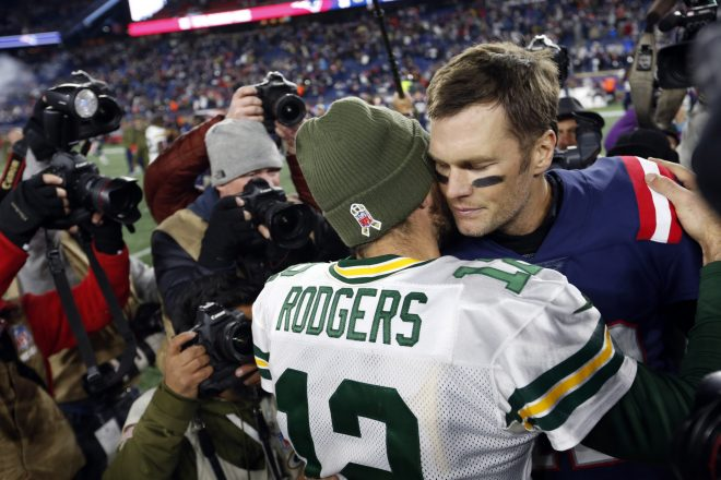 Brady Bests Rodgers In Rare Quarterback Duel