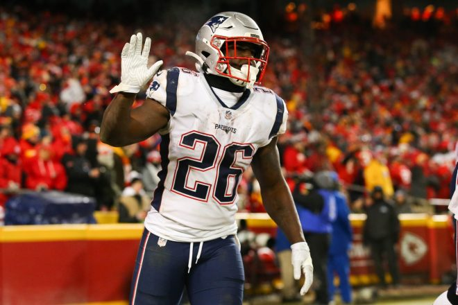 Sony Michel's Knee Scope Kept Him Out of Minicamp