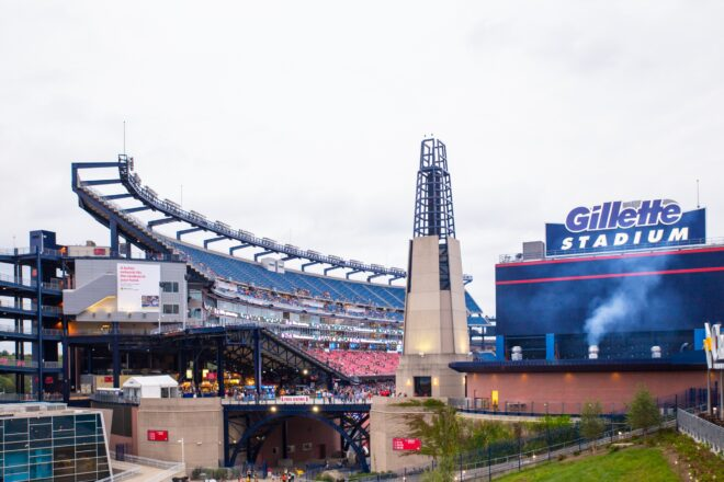 PHOTOS: A New Very Wide Gillette Stadium Video Scoreboard Is Nearing Completion