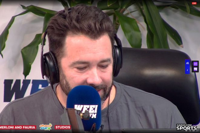 WEEI'S Lou Merloni Learns the Hard Way Not to Bet Against Tom Brady